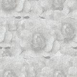 Grijze zwart-wit naadloze achtergrond met rozen Stock Afbeelding