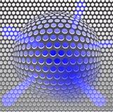 Gril bleu en métal Image libre de droits