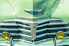 Gril classique de Chevrolet Chrome Photo stock
