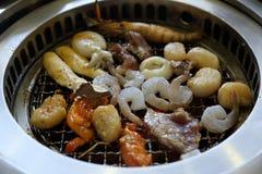 Gril coréen de BBQ photo stock