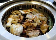 Gril coréen de BBQ image stock