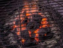 Gril de barbecue avec la flamme nue Images libres de droits