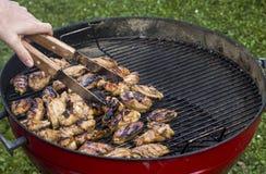 Gril de BBQ de poulet Photos libres de droits