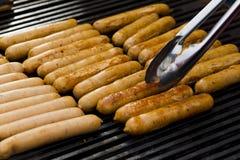 Gril de BBQ de saucisses Images stock