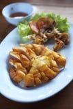 Gril de calmar dans le thaifood Images libres de droits