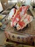 Gril de crabe géant Photo stock