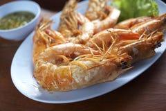 Gril de crevette en Thaïlande Image stock