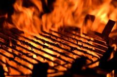 Gril de flamme Photos stock