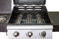 Gril de gaz de plan rapproché pour le barbecue Photographie stock libre de droits