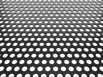 Gril de Grey Aluminum avec des trous sur le blanc Image libre de droits