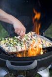 Gril de Kebab Photographie stock