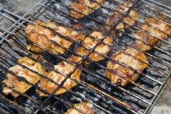 Gril de poulet photo stock