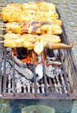 Gril de poulpe Photo stock