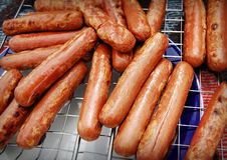 Gril de saucisses Images stock