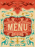 Gril de vecteur de vintage - conception de menu de restaurant Images stock