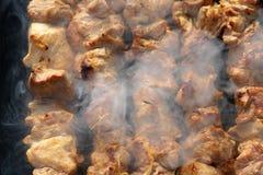 Gril de viande Photographie stock
