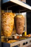 Gril du Moyen-Orient de viande d'agneau à angles de poulet Photos libres de droits