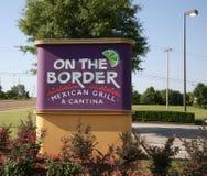 Gril et Cantina mexicains, à la frontière Photos libres de droits