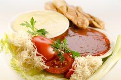 Gril et sauce Photographie stock libre de droits