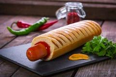 Gril français de hot-dog image libre de droits