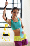 Gril at gym Royalty Free Stock Images