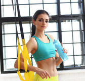 Gril at gym Royalty Free Stock Photo