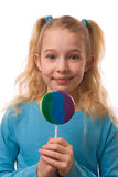 Gril with lollipop Royalty Free Stock Photos