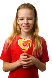 Gril with lollipop Royalty Free Stock Photography