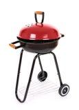 Gril noir et rouge de barbecue Photo stock