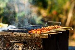 Gril rôti thaïlandais de porc Image stock