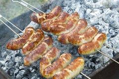Gril, saucisses Image stock