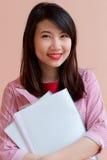 Gril tailandese dell'ufficio dell'Asia fotografia stock