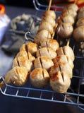 Gril thaïlandais de boulette de viande Photographie stock