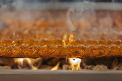 Gril turc de chiche-kebab Image libre de droits