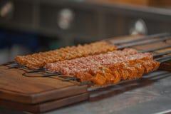 Gril turc de chiche-kebab Photos stock