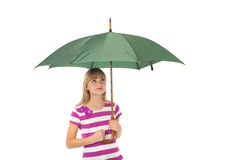 Gril with umbrella Royalty Free Stock Photo