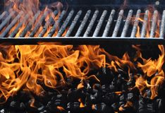 Gril vide de barbecue image libre de droits