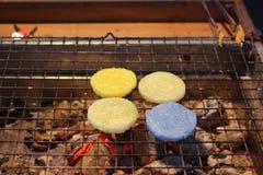 Grilaled kleiści ryż z jajkiem Fotografia Royalty Free