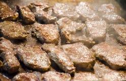 Griledl del filete de carne de vaca con humo Imagen de archivo