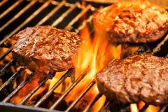 grillów hamburgery Obrazy Stock