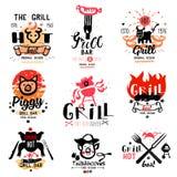 Grillów logowie i ilustracje royalty ilustracja