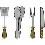 grillów narzędzia Obraz Royalty Free