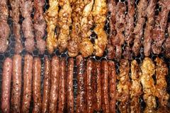 Grillów skewers Zdjęcie Royalty Free