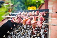 Grillów skewers z mięsem Zdjęcie Stock