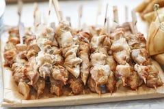 Grillów skewers z mięsem, kurczaka shish kebab Obraz Stock
