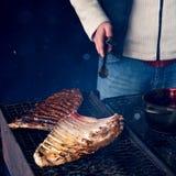 grillów spareribs zdjęcie stock