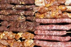 Grillów surowi skewers Zdjęcie Stock