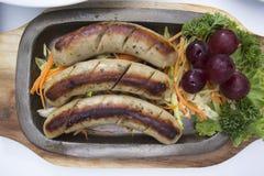 Grillów warzywa i kiełbasa Obrazy Royalty Free