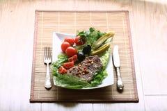 Grillów warzywa i stek Obraz Stock