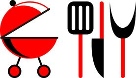 Grill –  illustration Royalty Free Stock Images